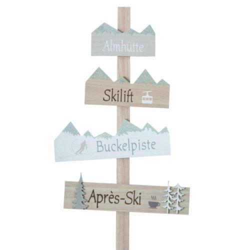 """Gartenstab """"Ski-Liebe"""""""